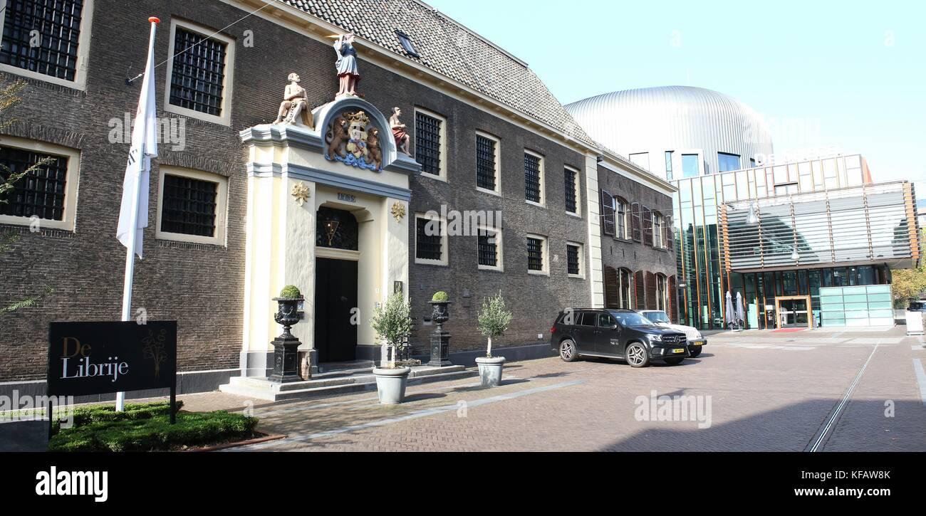De Librije Restaurant and Hotel at Spinhuisplein, central Zwolle, The Netherlands.  Three Michelin stars, run by Stock Photo
