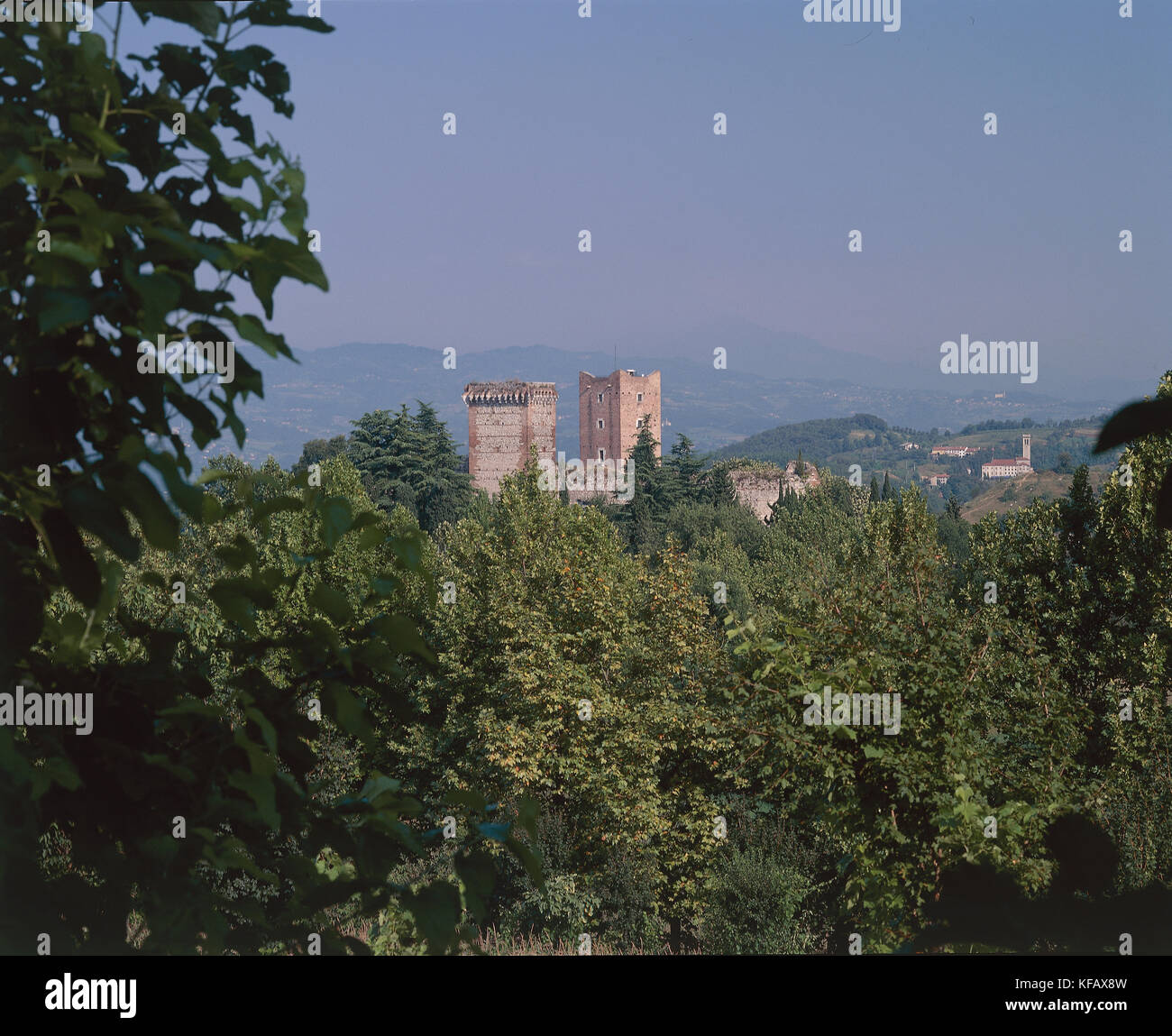 More Of The Castle Villa Veneto Montecchio (Castle Of Romeo) - Stock Image