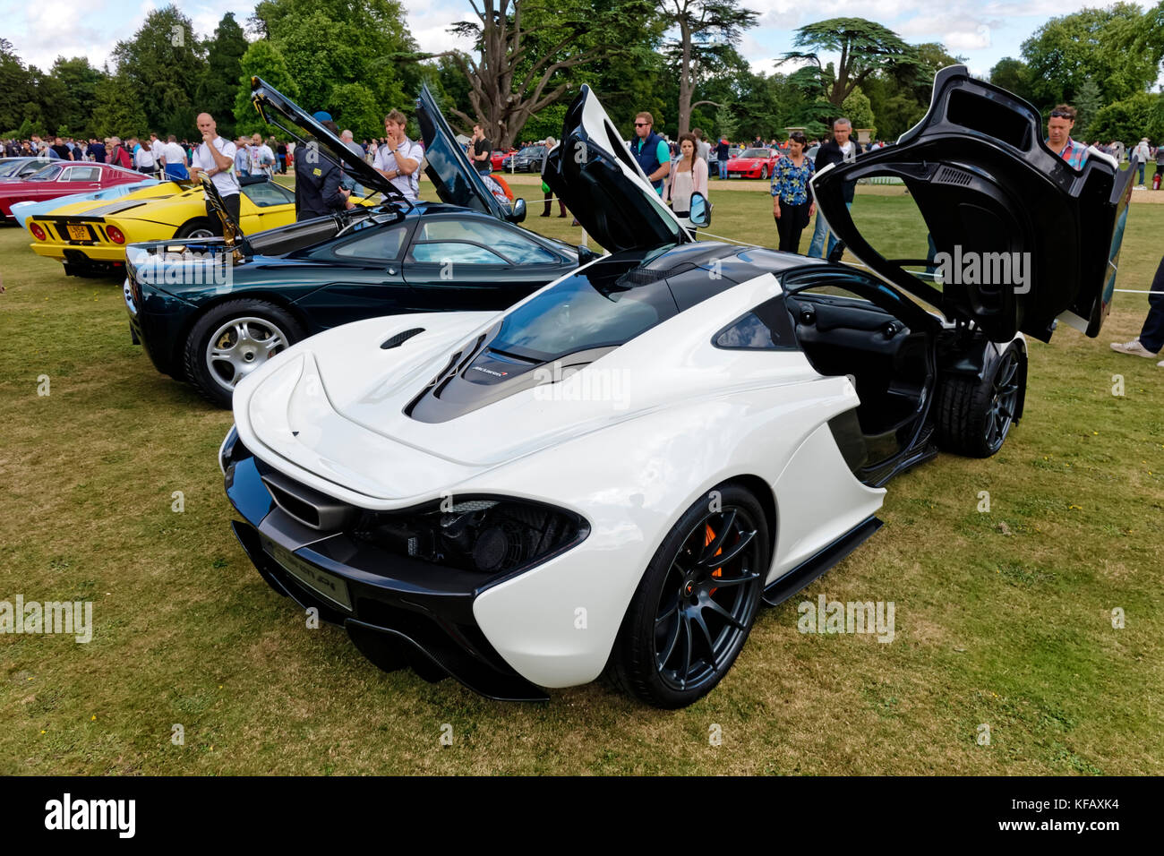 A McLaren P1 Plug In Hybrid Sports Car At The Wilton Classic Supercar Show,