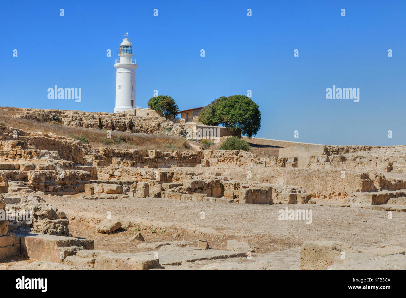 Paphos Archaeological Park, Paphos, Cyprus Stock Photo