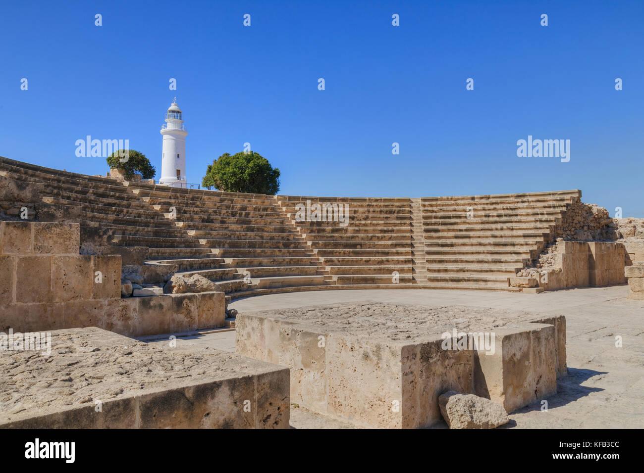 Paphos Archaeological Park, Paphos, Cyprus - Stock Image