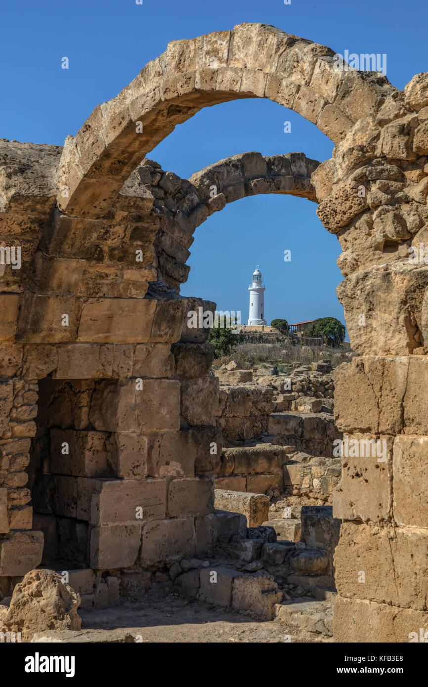 Paphos Archaeological Park, Paphos, Cyprus Stock Photo