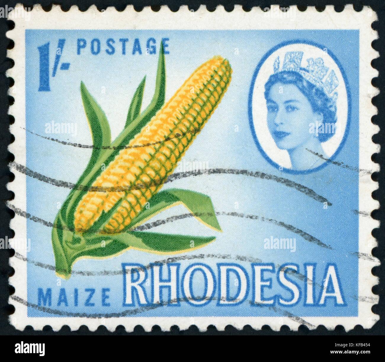 Postage Stamp - Rhodesia - Stock Image