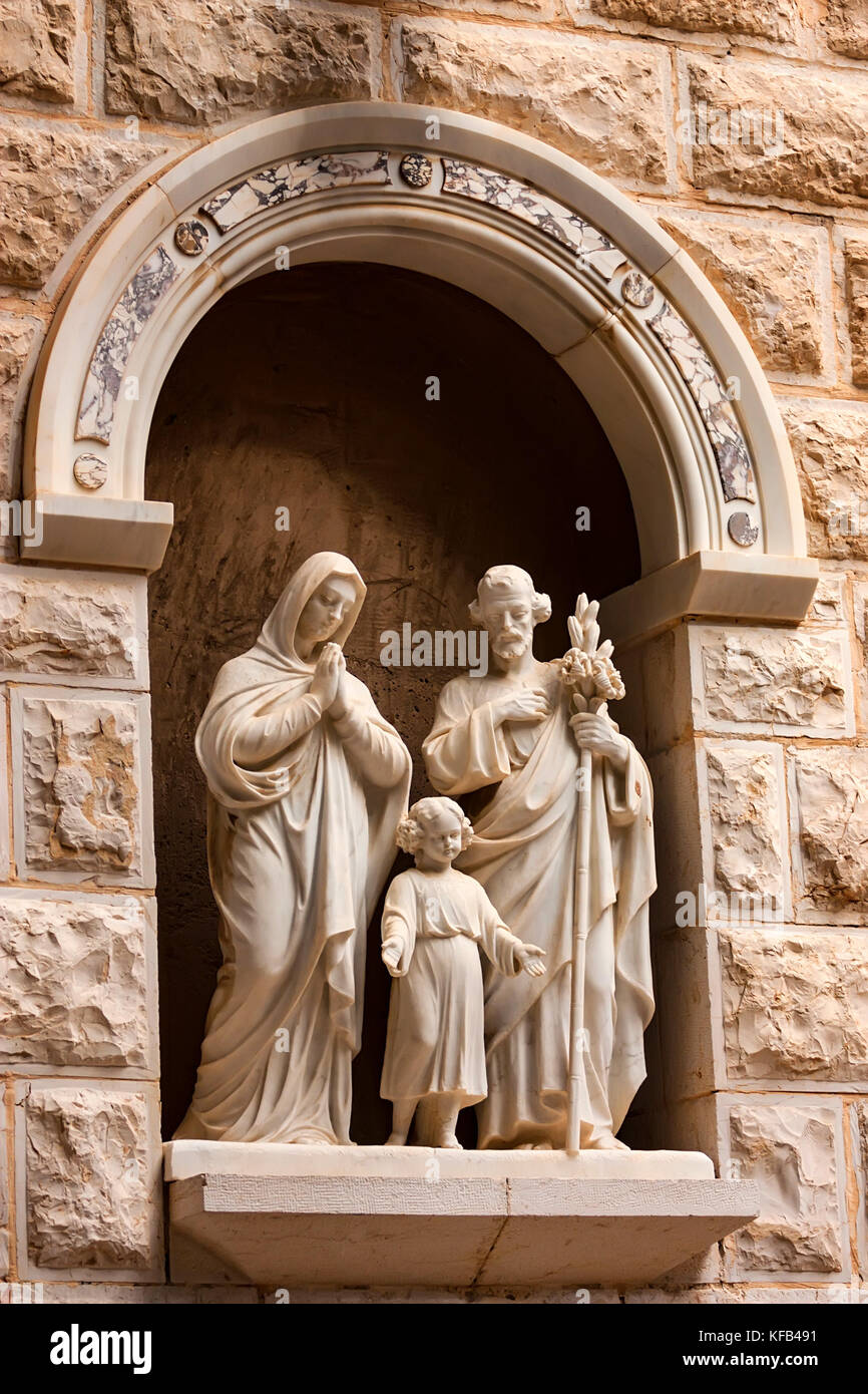 Holy Family statue in Israel - Stock Image