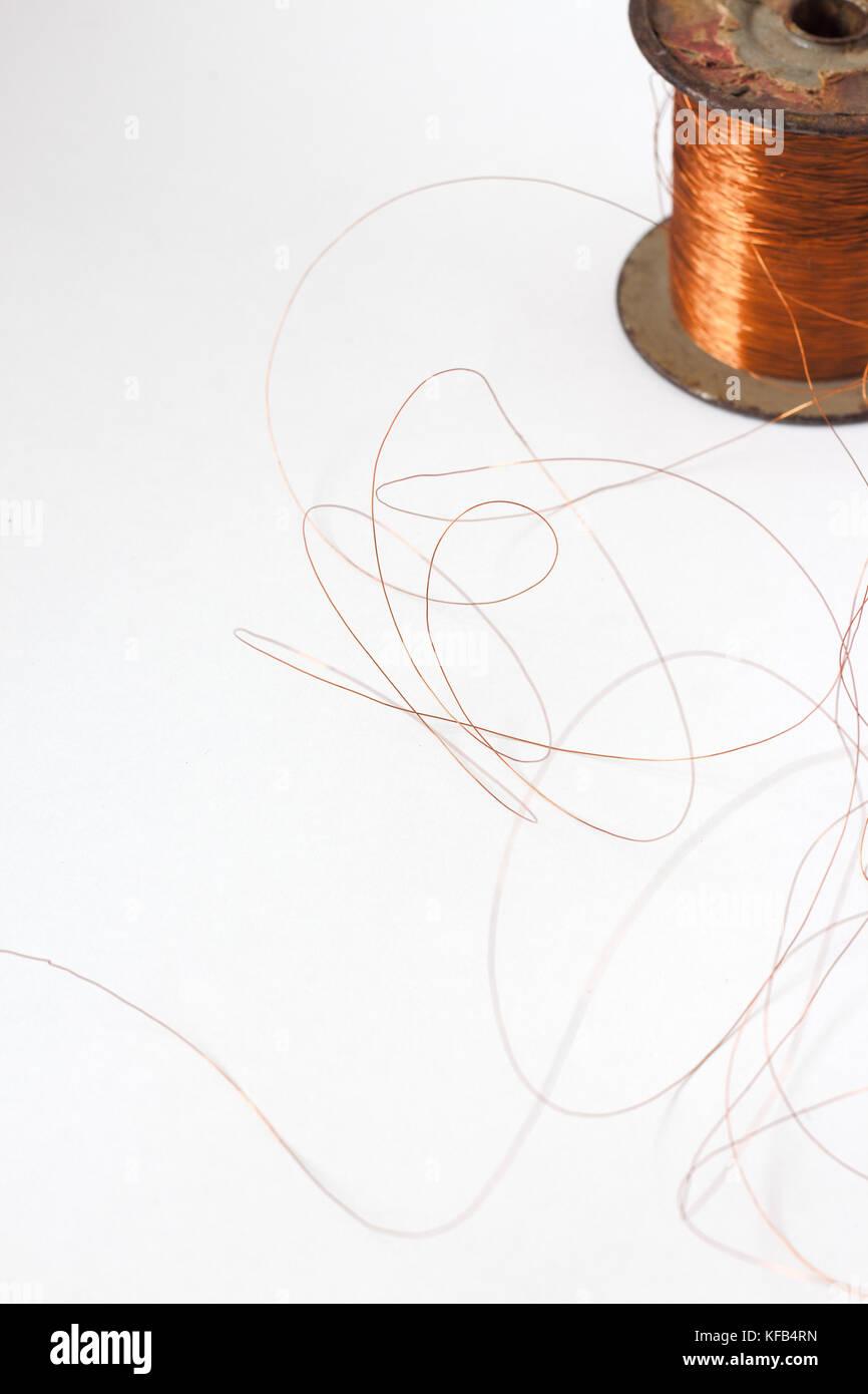 Insulated Copper Wire Stock Photos & Insulated Copper Wire Stock ...
