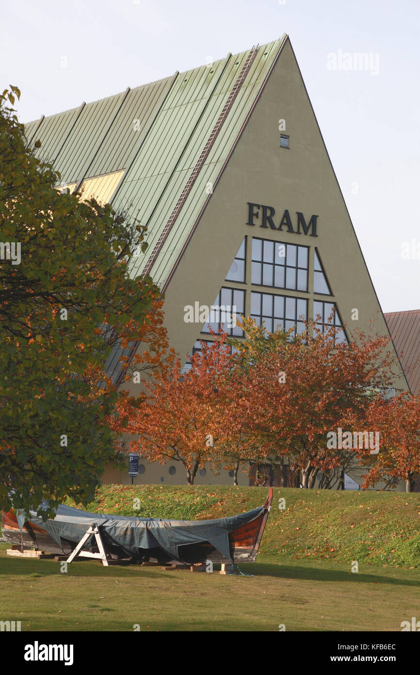 The Fram museum named after the ship used by Norwegian Arctic and Antarctic explorers, including Nansen - Stock Image