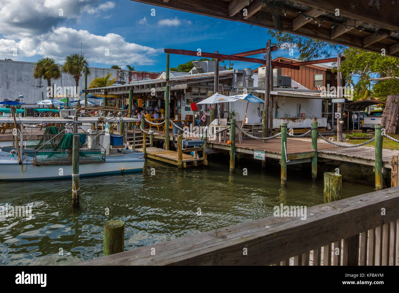 Star Fish Co Seafood Market and Dockside Restaurant in the historic Florida fishing village of Cortez in the United - Stock Image