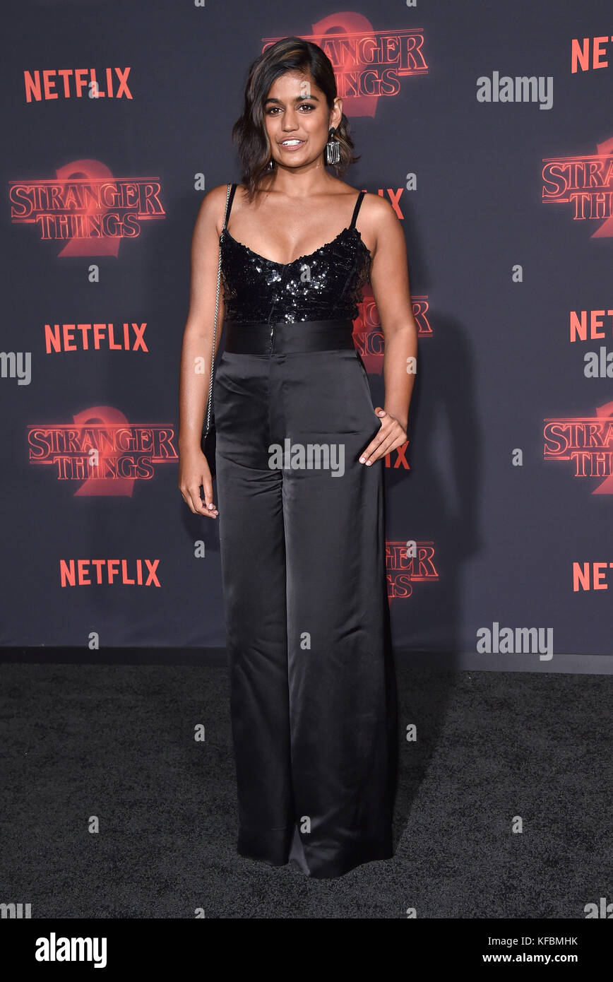 Westwood, California, USA. 26th Oct, 2017. Linnea Berthelsen arrives for the Netflix 'Stranger Things' 2 - Stock Image
