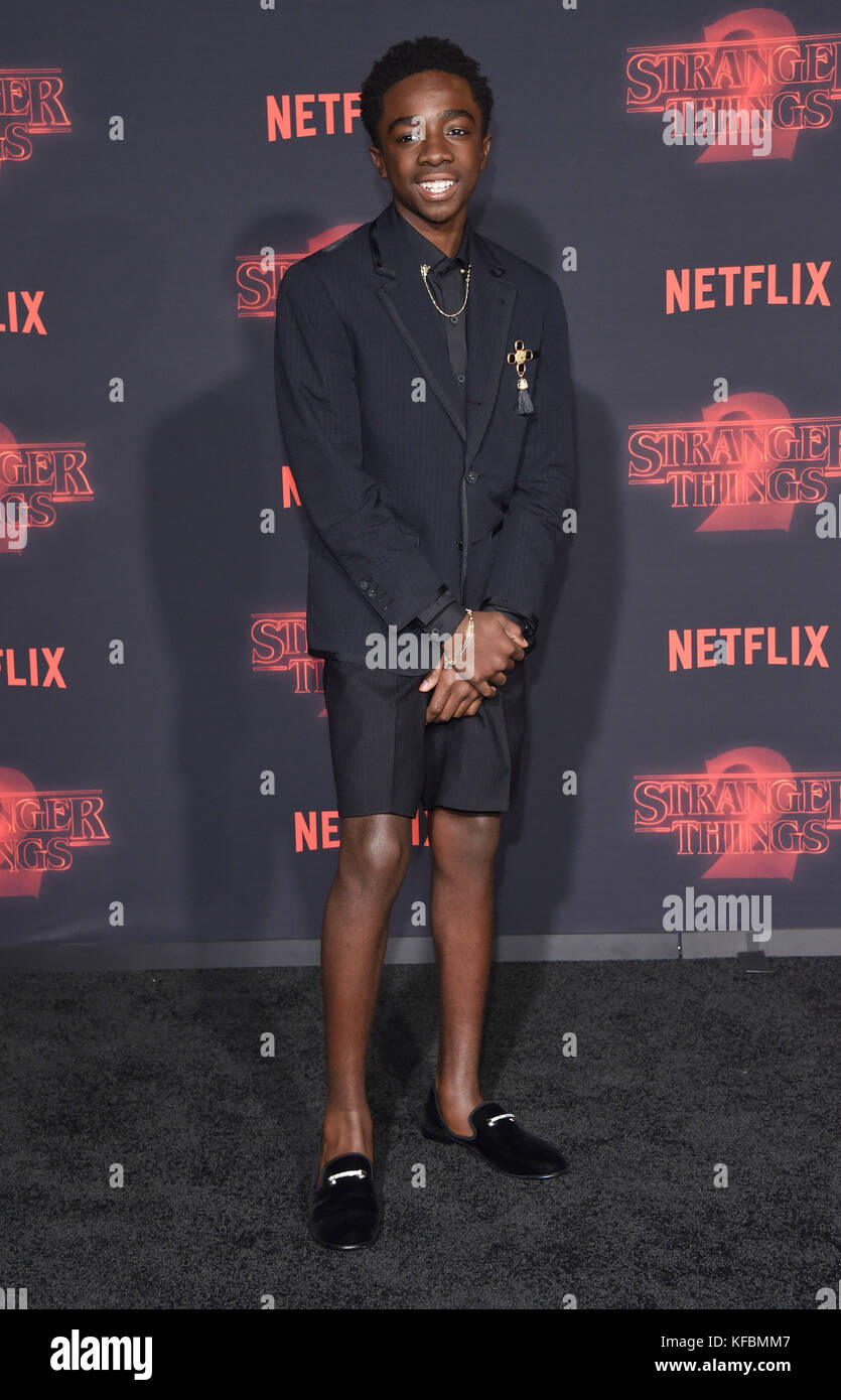Westwood, California, USA. 26th Oct, 2017. Caleb McLaughlin arrives for the Netflix 'Stranger Things' 2 - Stock Image