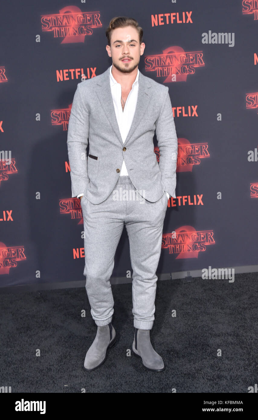Westwood, California, USA. 26th Oct, 2017. Dacre Montgomery arrives for the Netflix 'Stranger Things' 2 - Stock Image