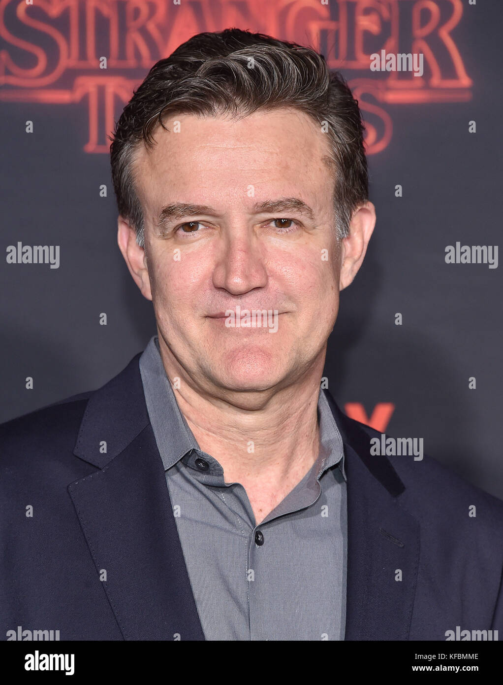 Westwood, California, USA. 26th Oct, 2017. Joe Chrest arrives for the Netflix 'Stranger Things' 2 Premiere - Stock Image