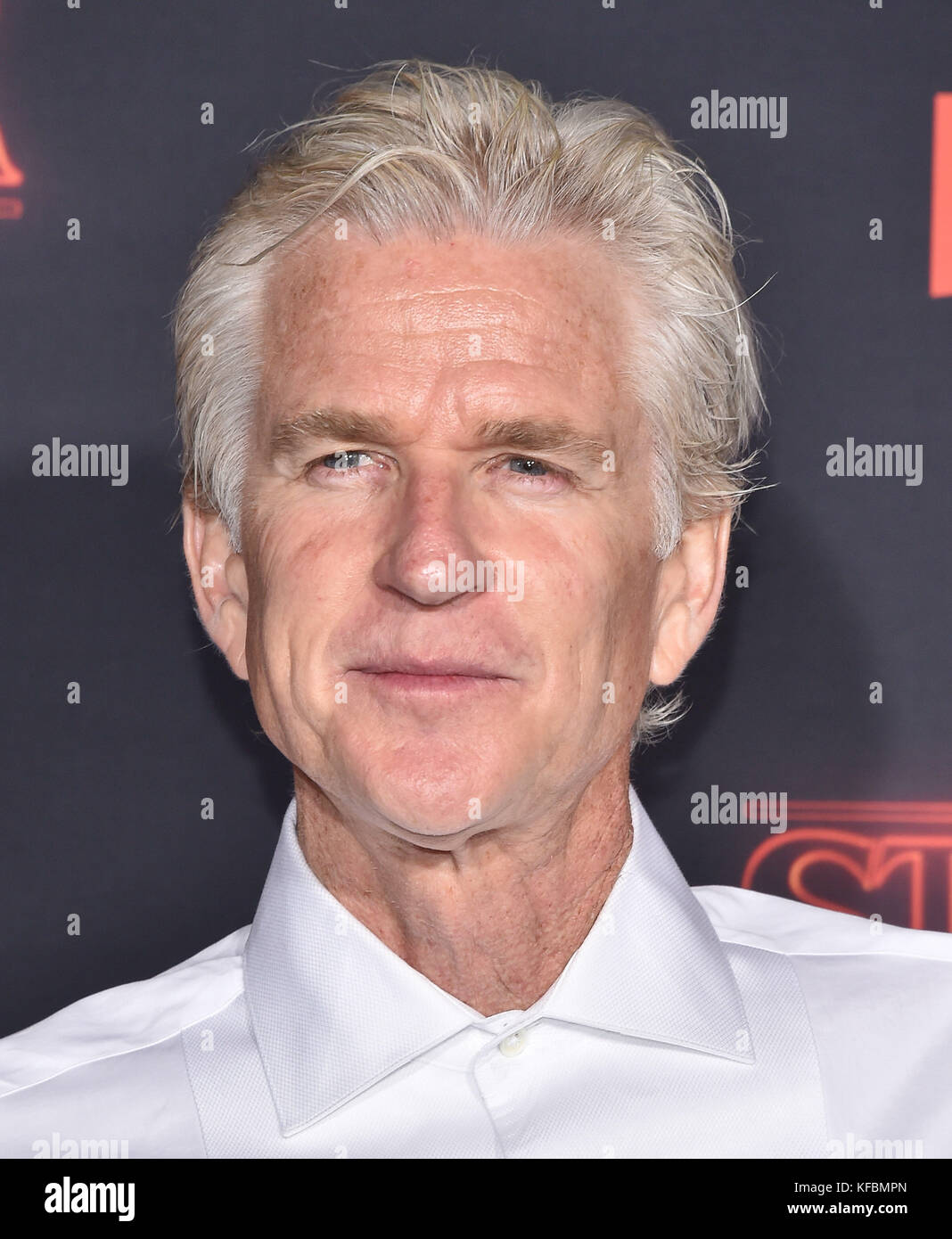 Westwood, California, USA. 26th Oct, 2017. Matthew Modine arrives for the Netflix 'Stranger Things' 2 Premiere - Stock Image