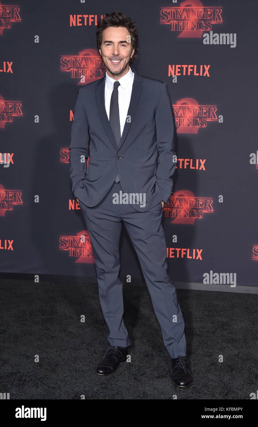 Westwood, California, USA. 26th Oct, 2017. Shawn Levy arrives for the Netflix 'Stranger Things' 2 Premiere - Stock Image
