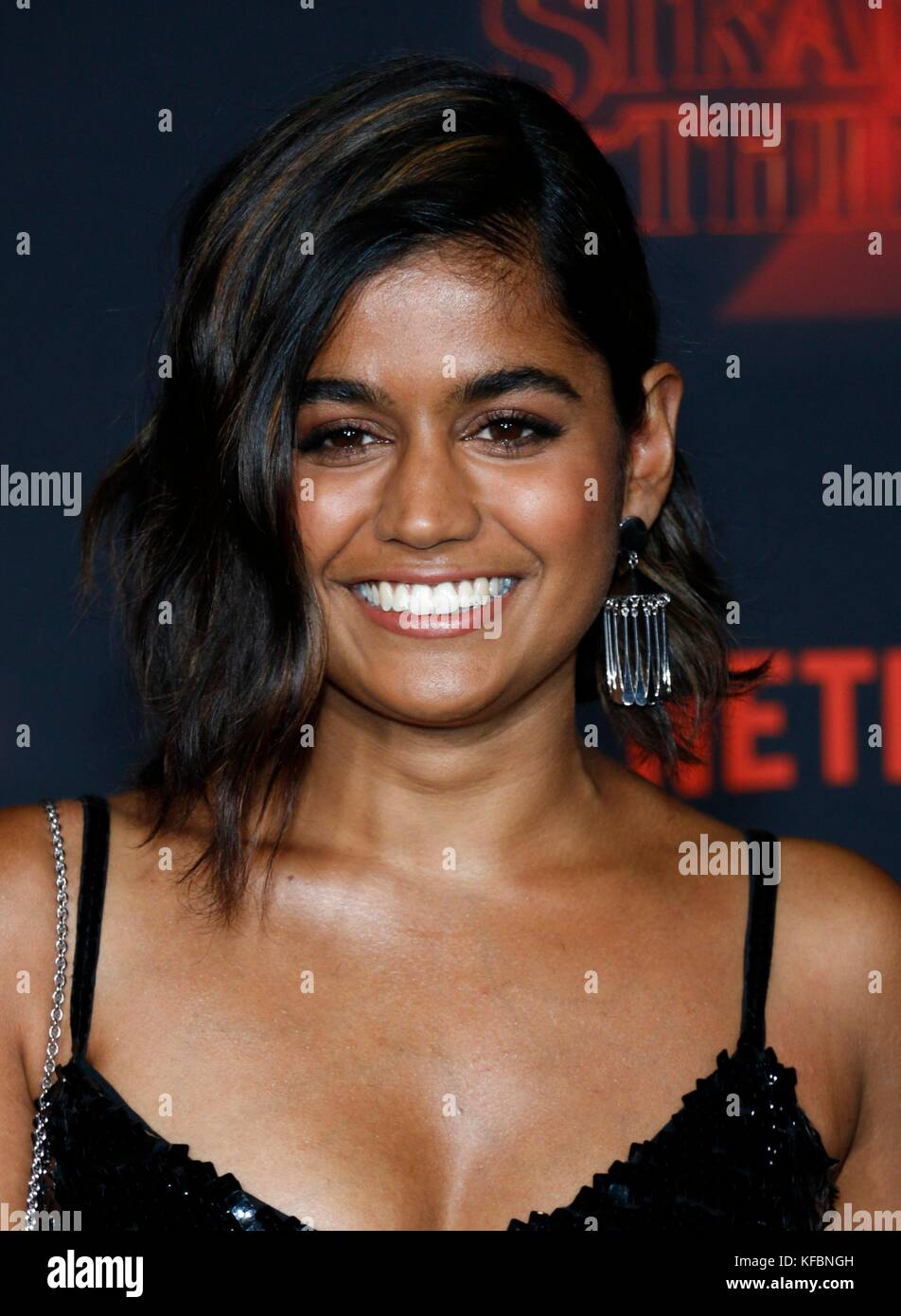 Los Angeles, CA, USA. 26th Oct, 2017. Linnea Berthelsen at arrivals for NETFLIX'S STRANGER THINGS 2 Premiere, - Stock Image