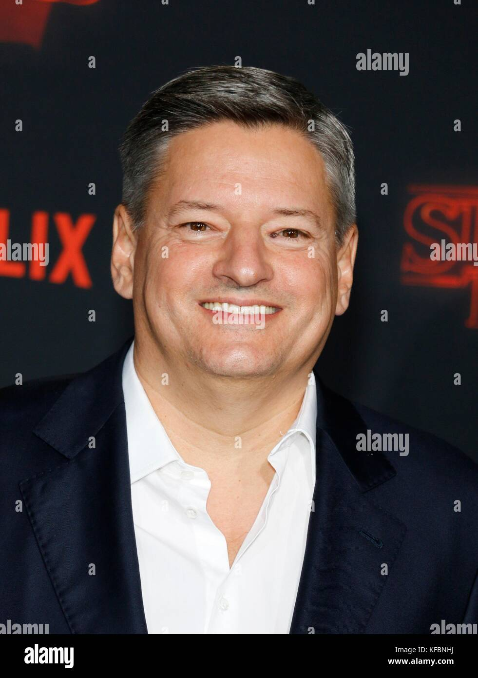 Los Angeles, CA, USA. 26th Oct, 2017. Ted Sarandos at arrivals for NETFLIX'S STRANGER THINGS 2 Premiere, Regency - Stock Image