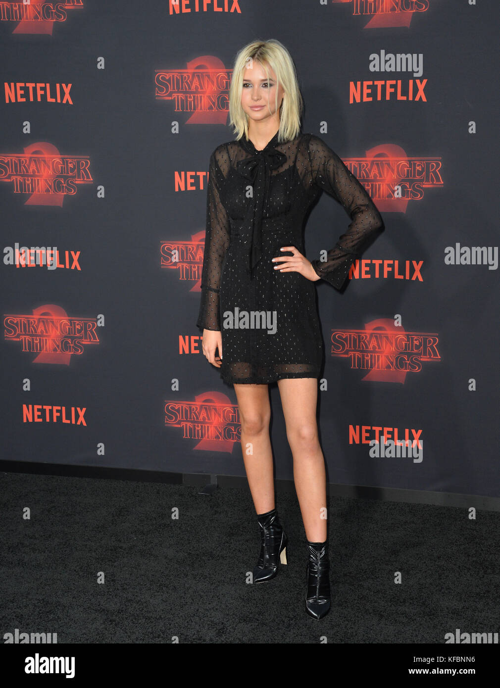 Los Angeles, USA. 26th Oct, 2017. Isabel May at the premiere for Netflix's 'Stranger Things 2' at the - Stock Image