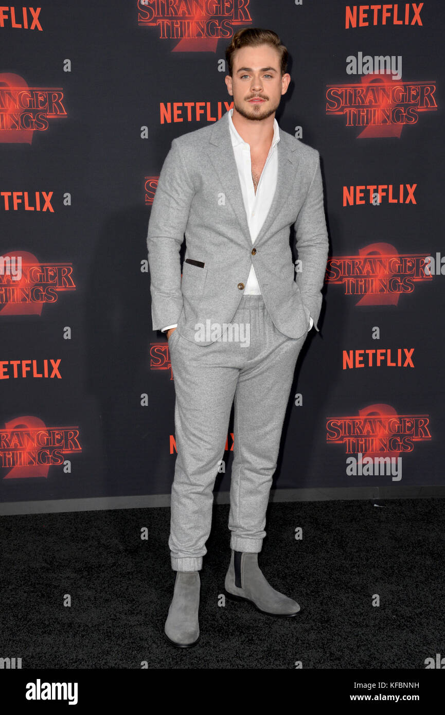 Los Angeles, USA. 26th Oct, 2017. Dacre Montgomery at the premiere for Netflix's 'Stranger Things 2' - Stock Image