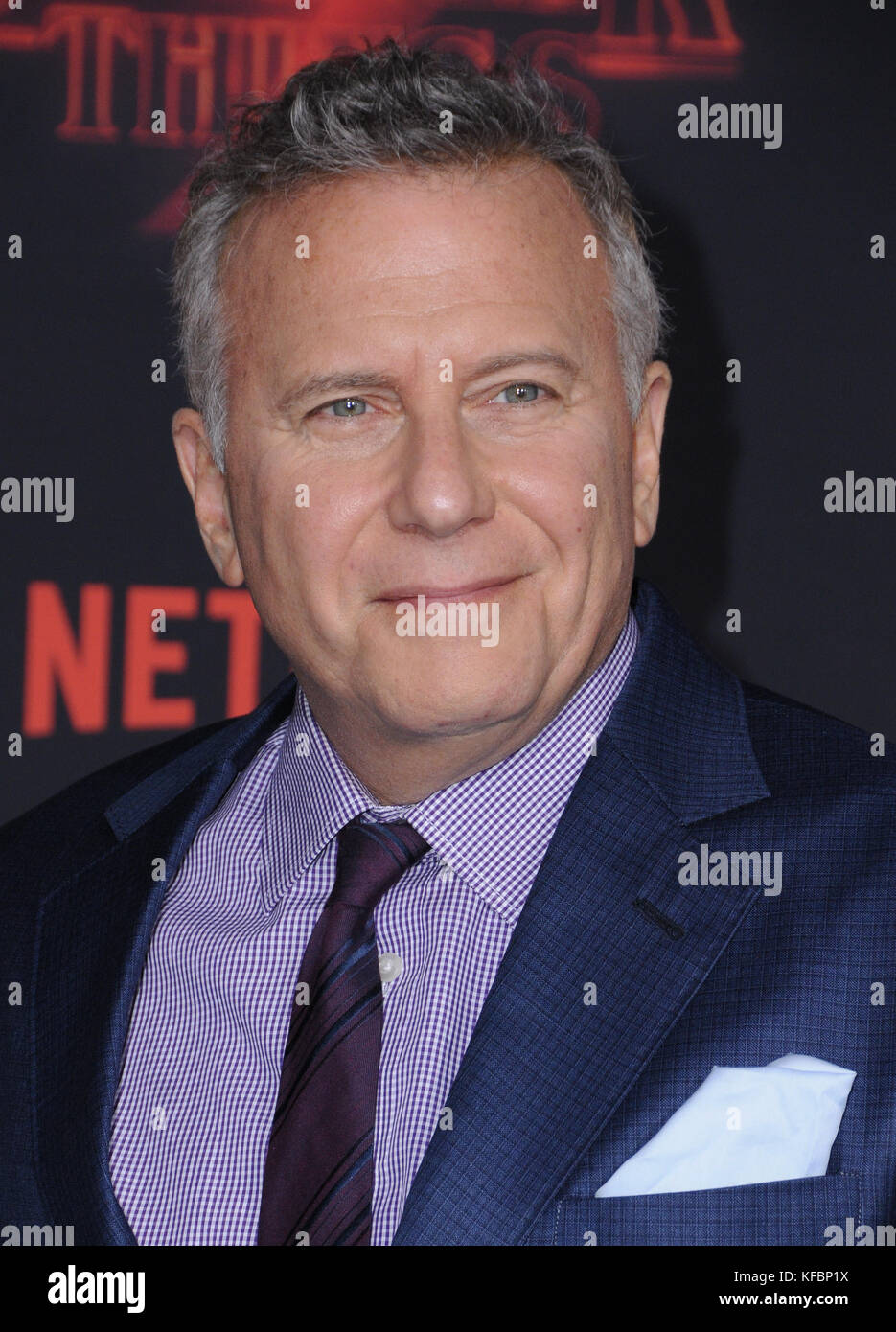 October 26, 2017 - Westwood, CA, U.S. - 26 October  2017 - Westwood, California - Paul Riser. Netflix's ''Stranger - Stock Image