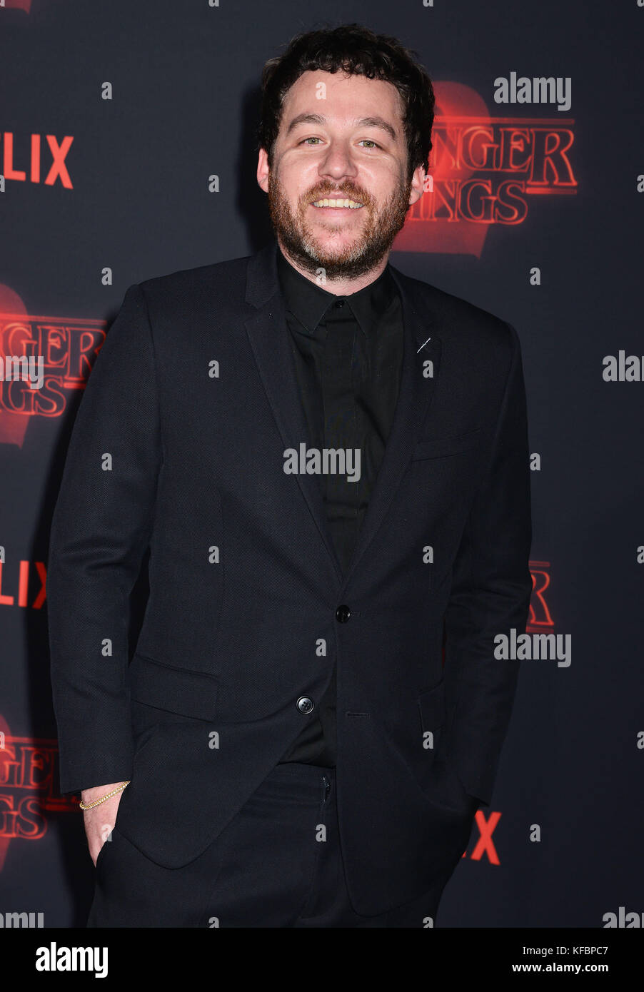 Los Angeles, USA. 26th Oct, 2017. Kyle Dixon  arrives at the Premiere Of Netflix's 'Stranger Things' - Stock Image