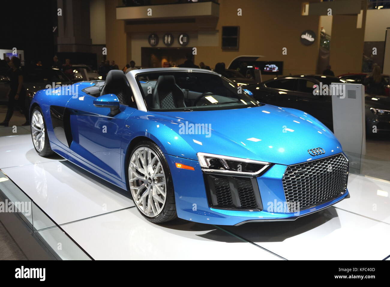 Audi R8, 2017 Auto Show, Washington DC - Stock Image