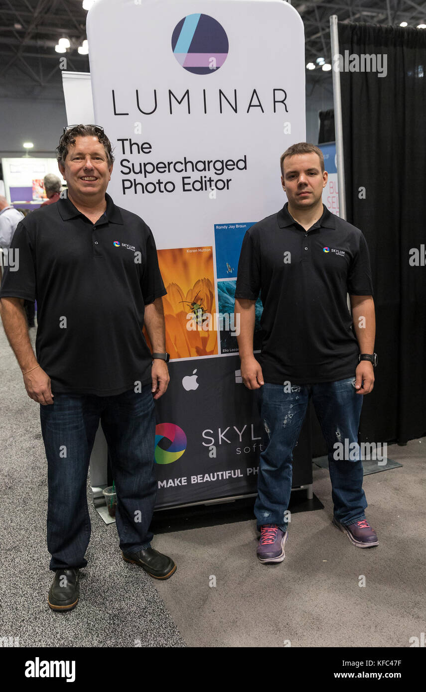 New York, United States. 26th Oct, 2017. Kevin La Rue, Ivan Kutanin developers of Macphun Luminar which won Lucie - Stock Image