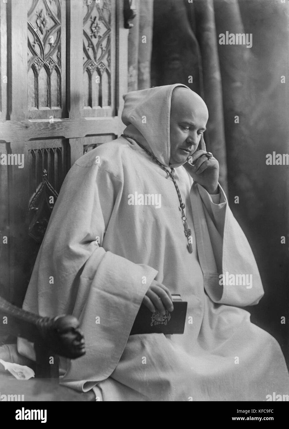 Cardinal Marre, abbot of Notre Dame d'Igny where Joris Karl Huysmans made his retirement of conversion to catholicism Stock Photo