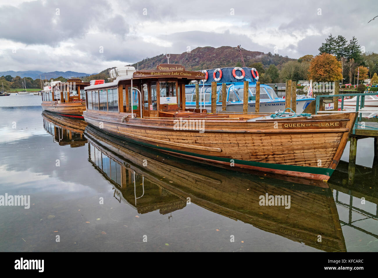Queen of the Lake, Passenger Vessel on Lake Windermere - Stock Image