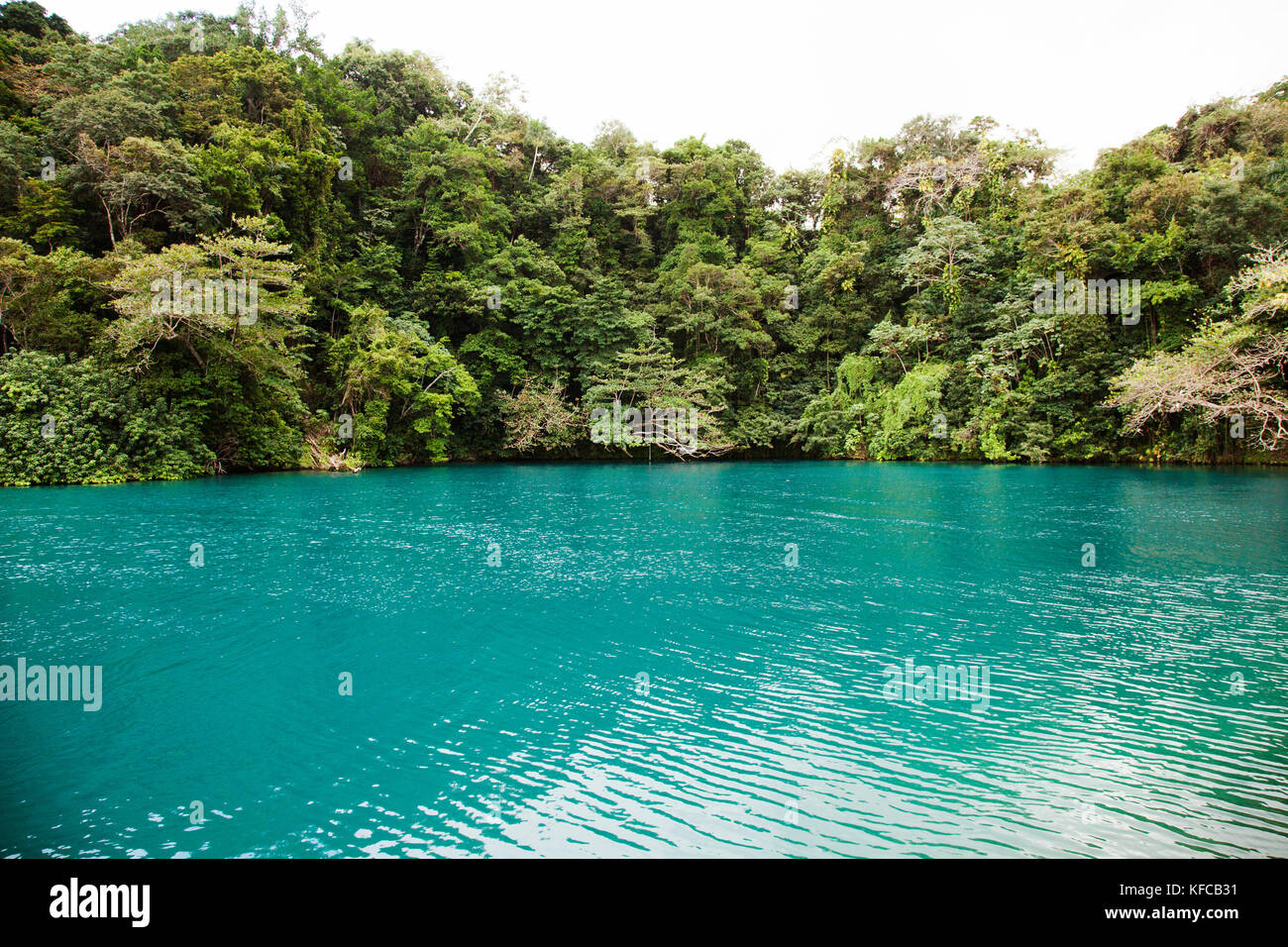 Jamaica Port Antonio The Blue Lagoon Stock Photo