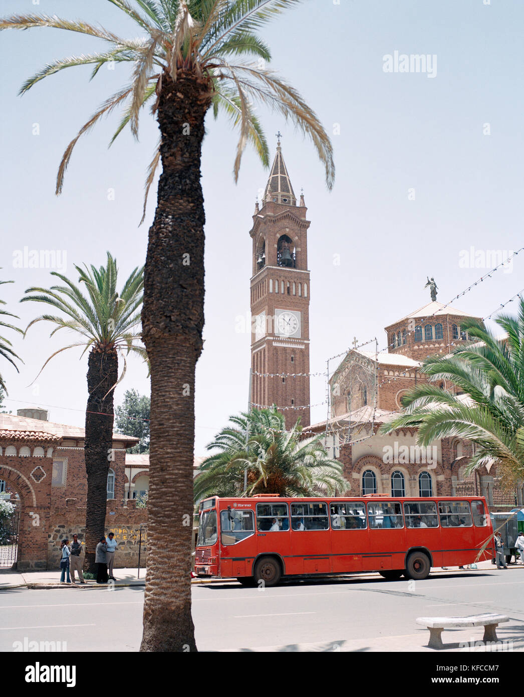 ERITREA, Asmara, the Latin Cathedral on Liberation Avenue - Stock Image