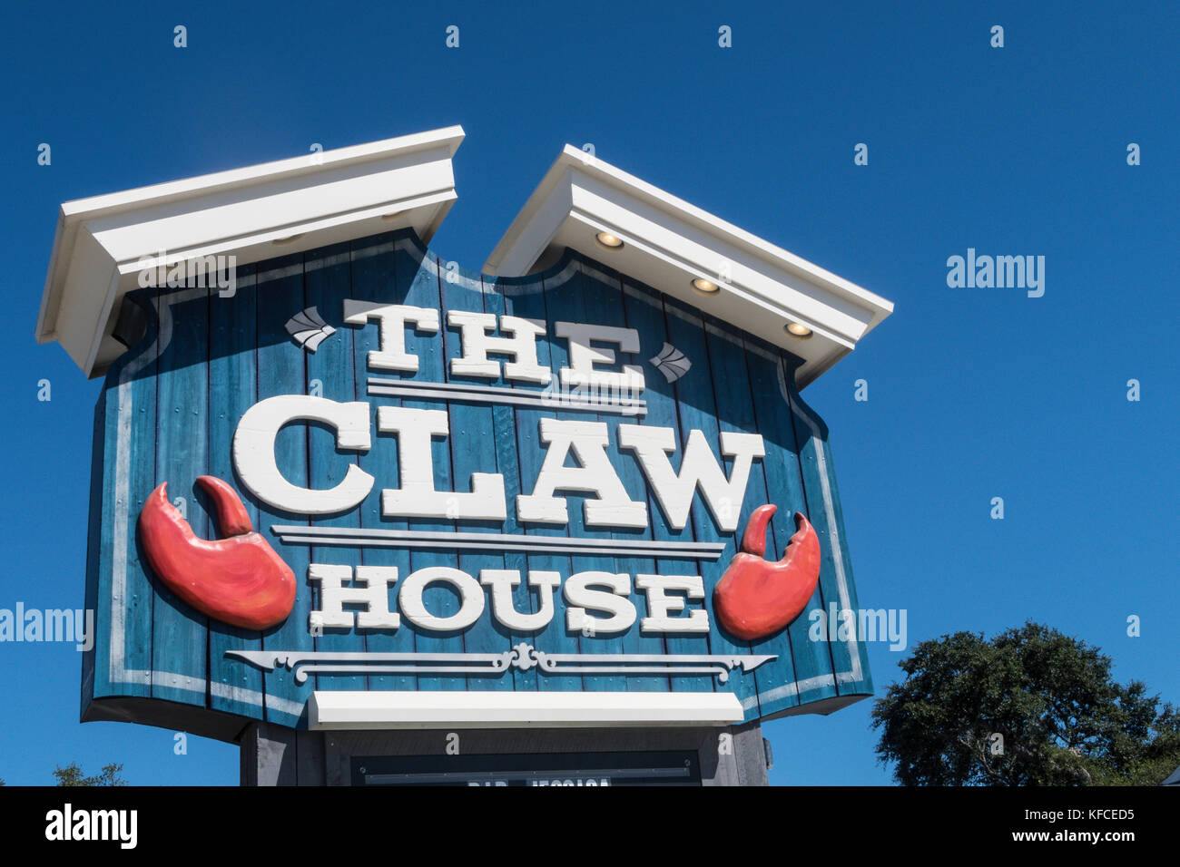 The Claw House Restaurant, Murrells Inlet, SC, USA - Stock Image