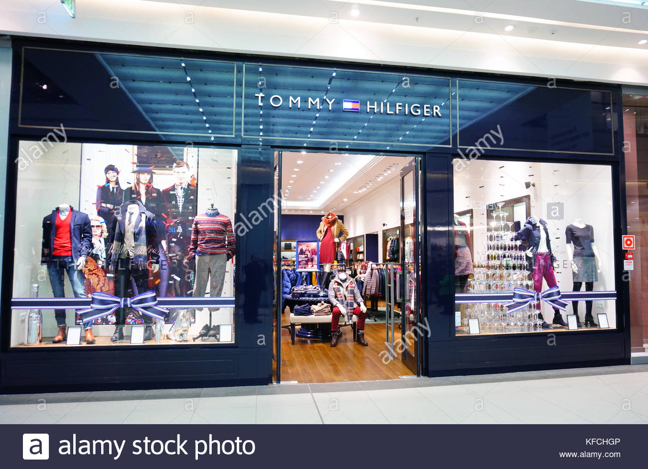 449c95e3 POZNAN, POLAND - NOVEMBER 29, 2013: Entrance to a Tommy Hilfiger clothing  store
