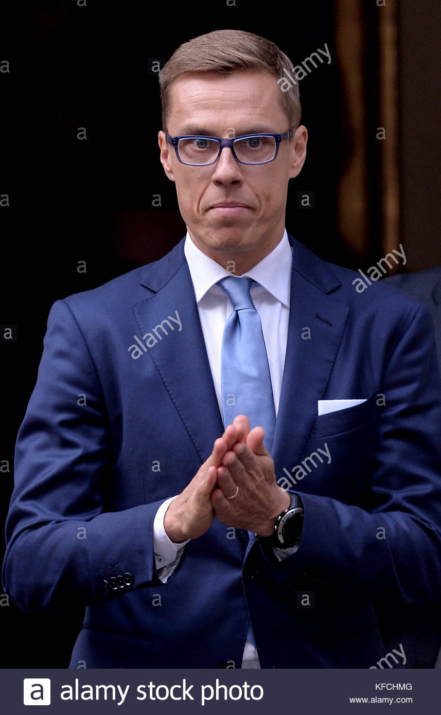 File photo dated 8/10/2014 of vice-president of the European Investment Bank (EIB) Alexander Stubb who has said - Stock Image