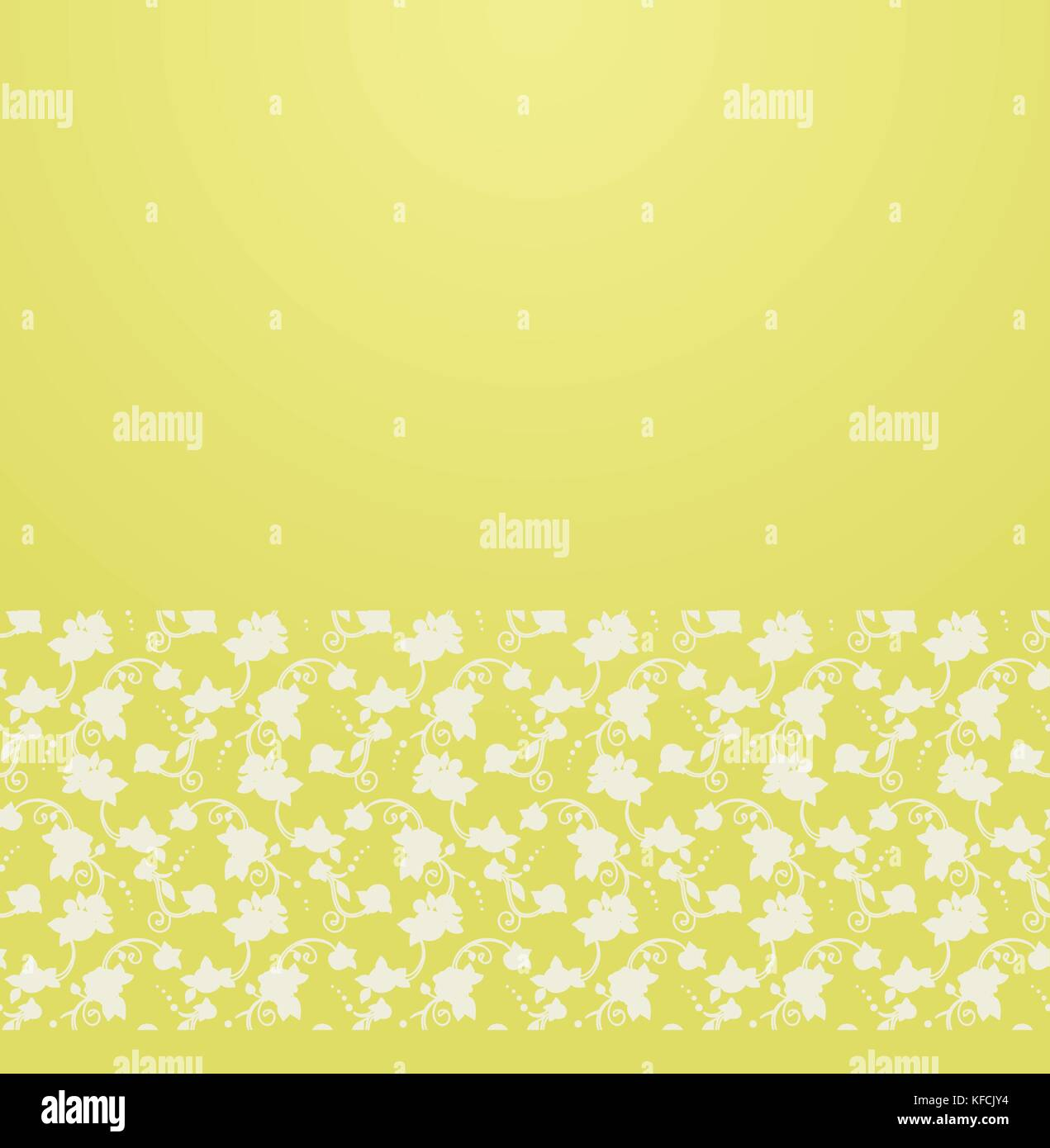 Vector ornate background with ornamental border -  gentle floral ornament - Stock Vector