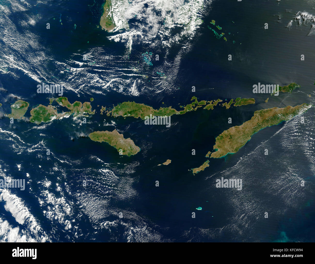 Aerial of the Lesser Sunda Islands - Stock Image