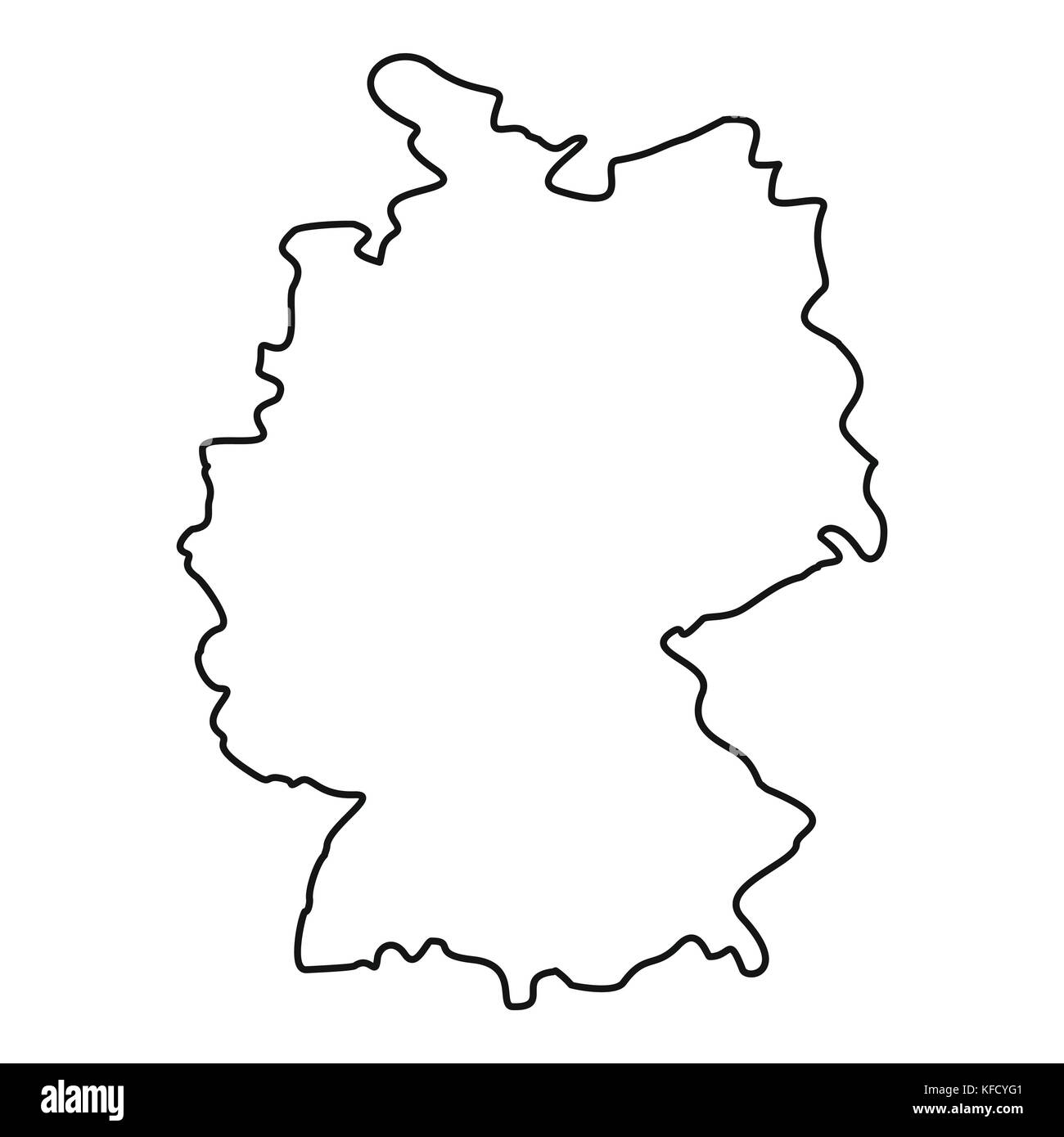 Map Of Germany Outline.Germany Map Icon Outline Style Stock Vector Art Illustration