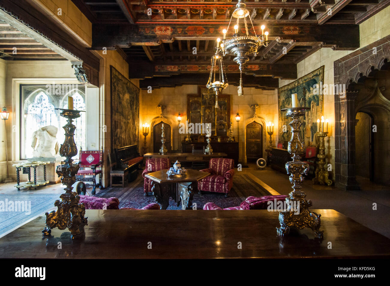 The Interior Luxurious Rooms Of Hearst Castle Big Sur California USA