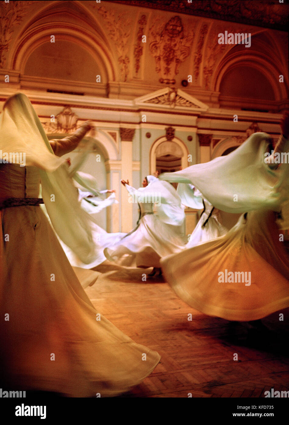 REPUBLIC OF GEORGIA, Whirling Dervishes performing, Tbilisi - Stock Image