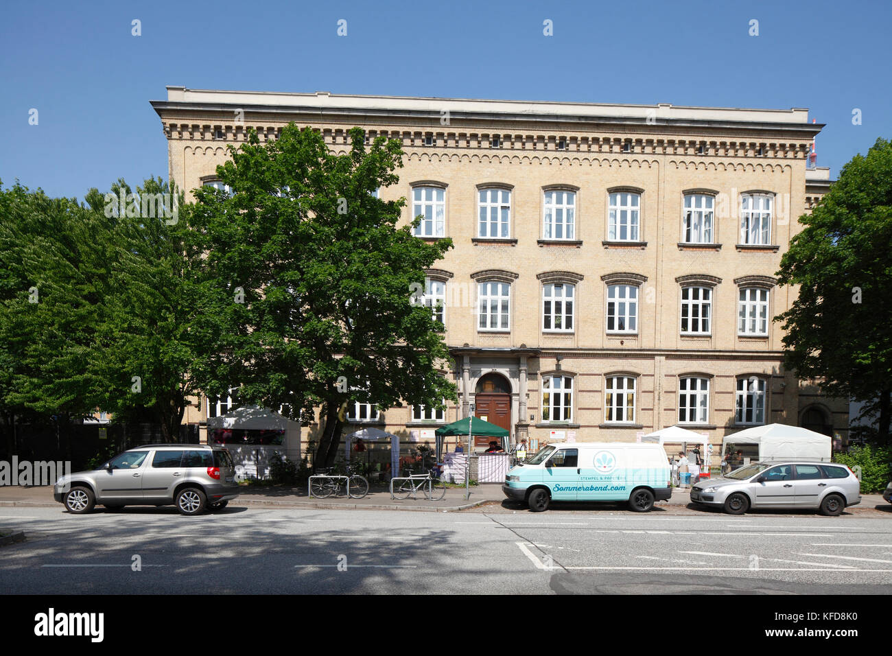 Staatliche Abendschule Vor dem Holstentor, ASH, Holstenglacis, Hamburg, Deutschland, Europa  I state night school Stock Photo