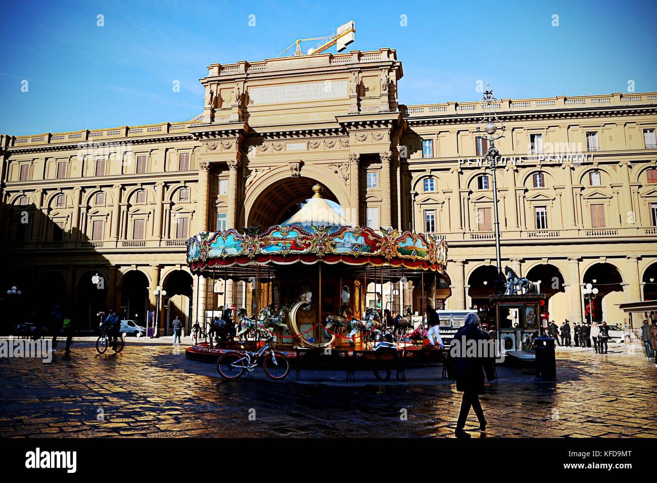 Carusel en Florencia - Stock Image
