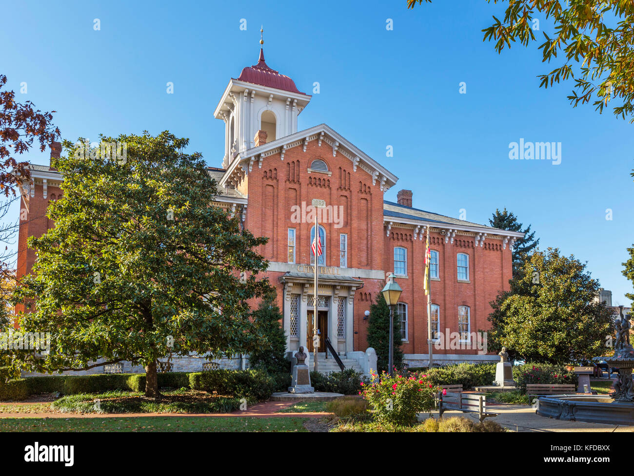 City Hall, Frederick, Maryland, USA - Stock Image