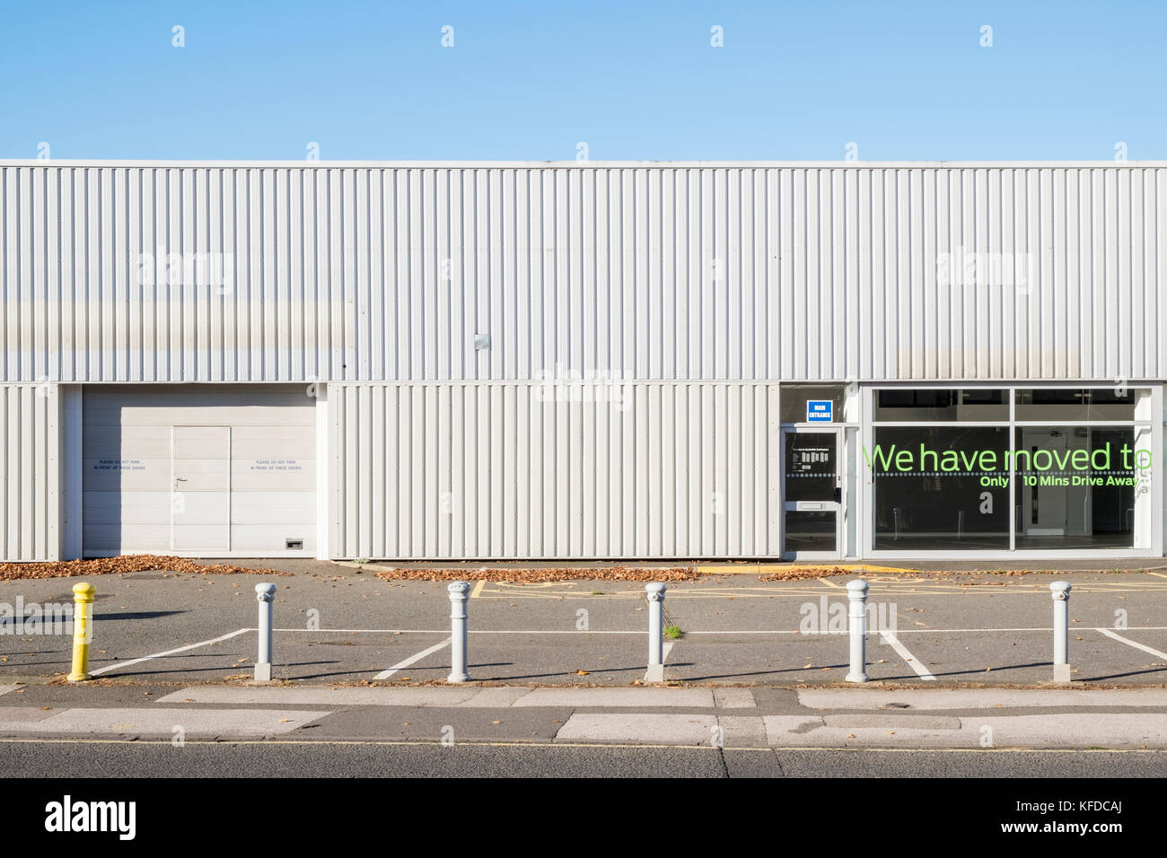Relocated. Business moved away to new premises, Nottinghamshire, England, UK - Stock Image