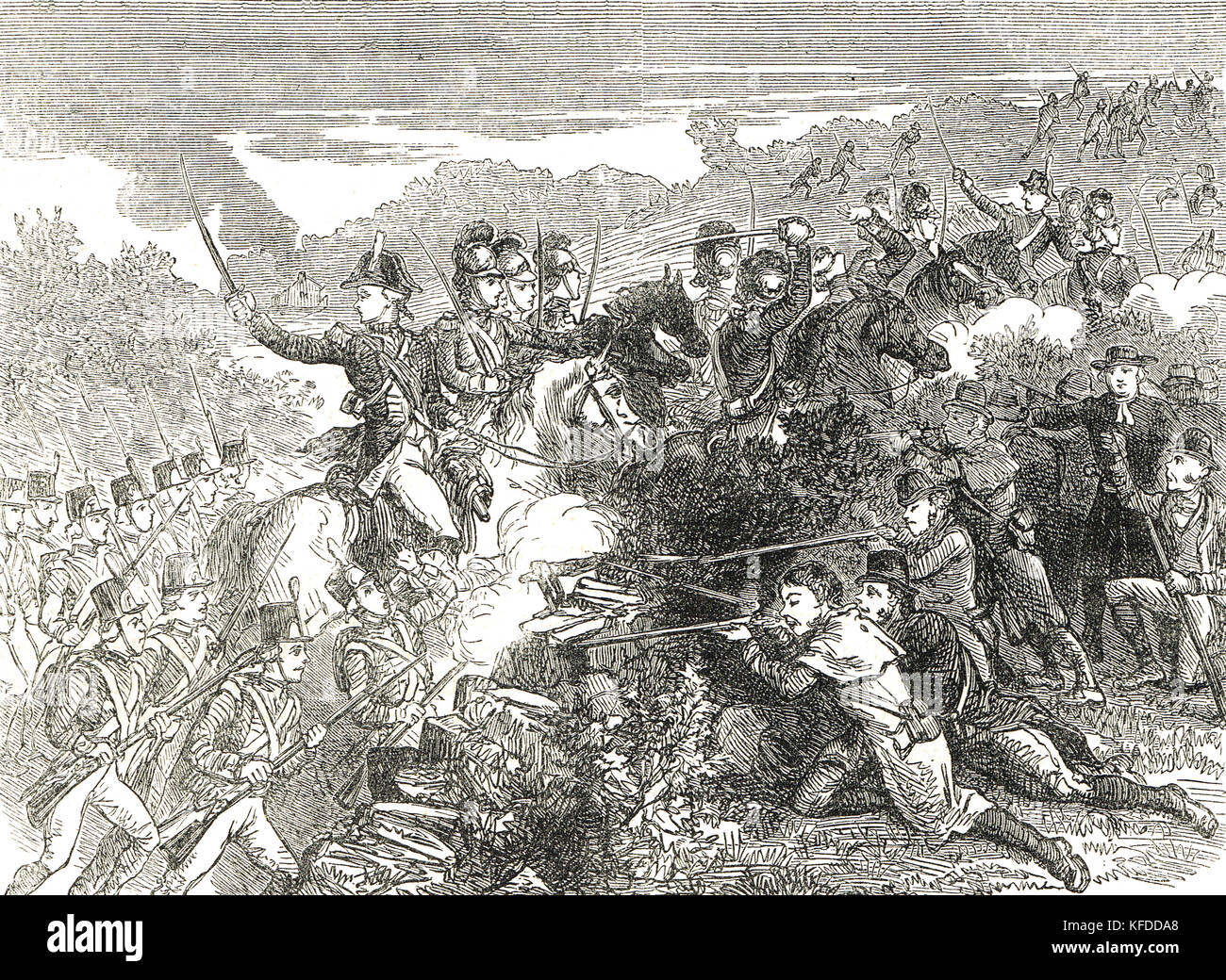 British Army attack on the Wexford rebels, 1798, Irish Rebellion of 1798 -  Stock