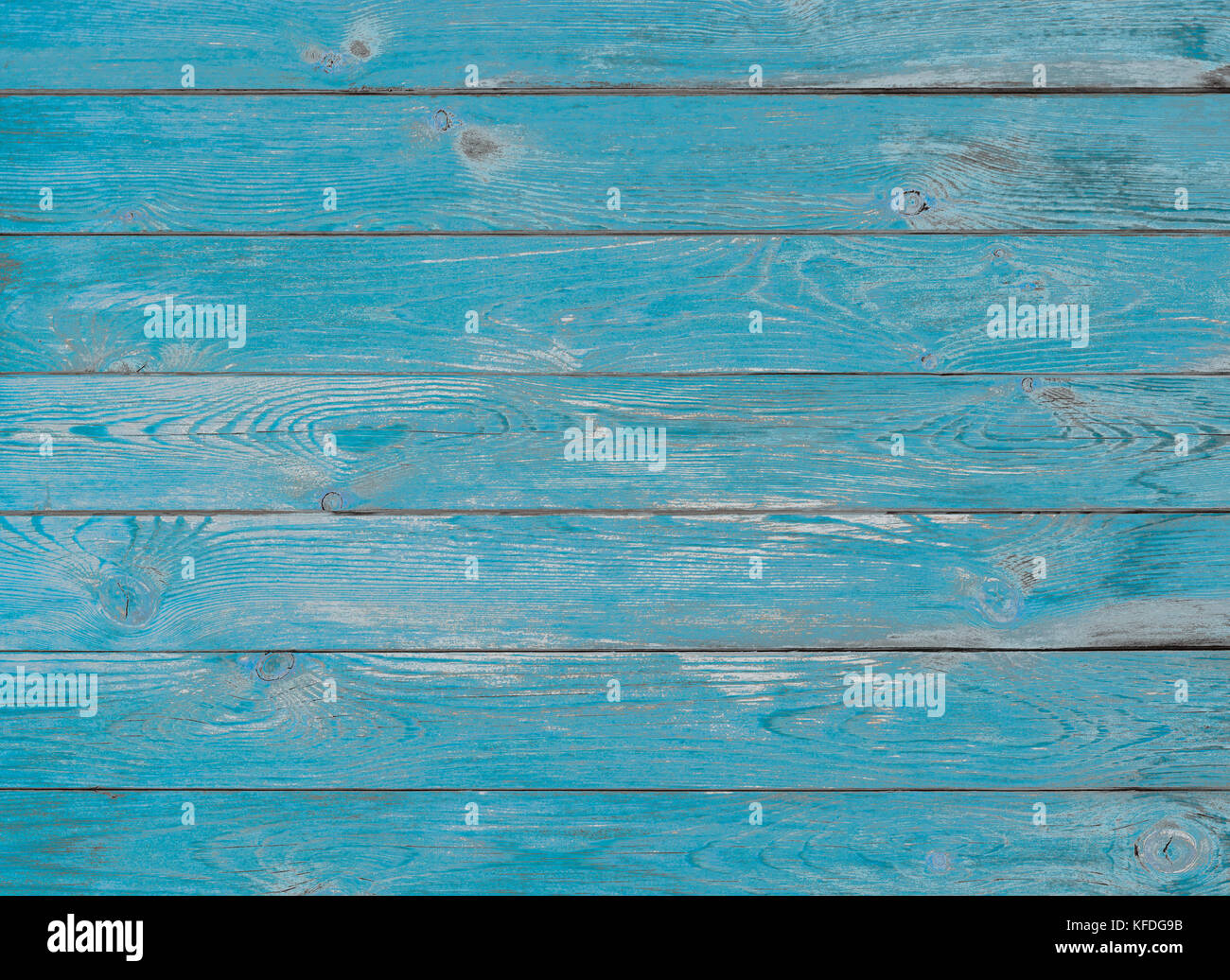 blue wood planks texture or background - Stock Image
