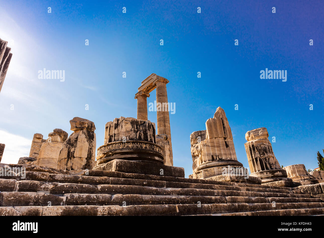 Historic site of the Temple of Apollo in Didym, Turkey - Stock Image