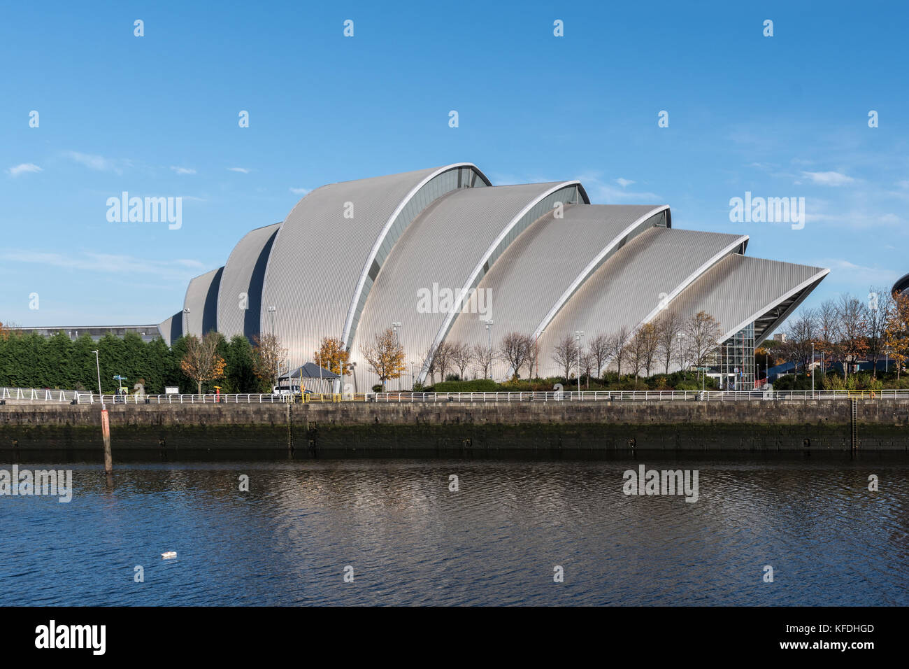 The Clyde Auditorium also known as The Armadillo in Glasgow - Stock Image