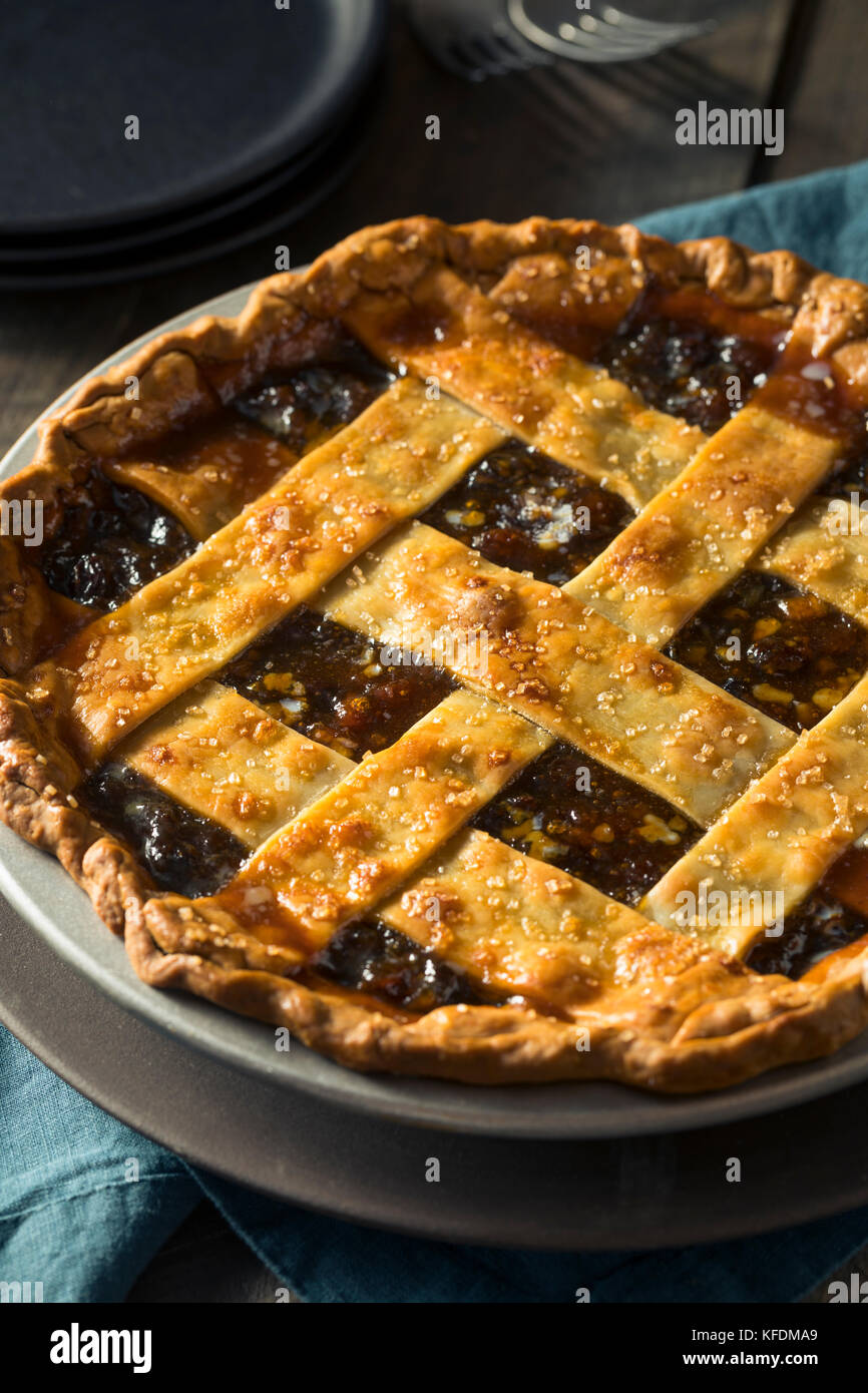 Sweet Homemade Mincemeat Pie for the Holidays - Stock Image