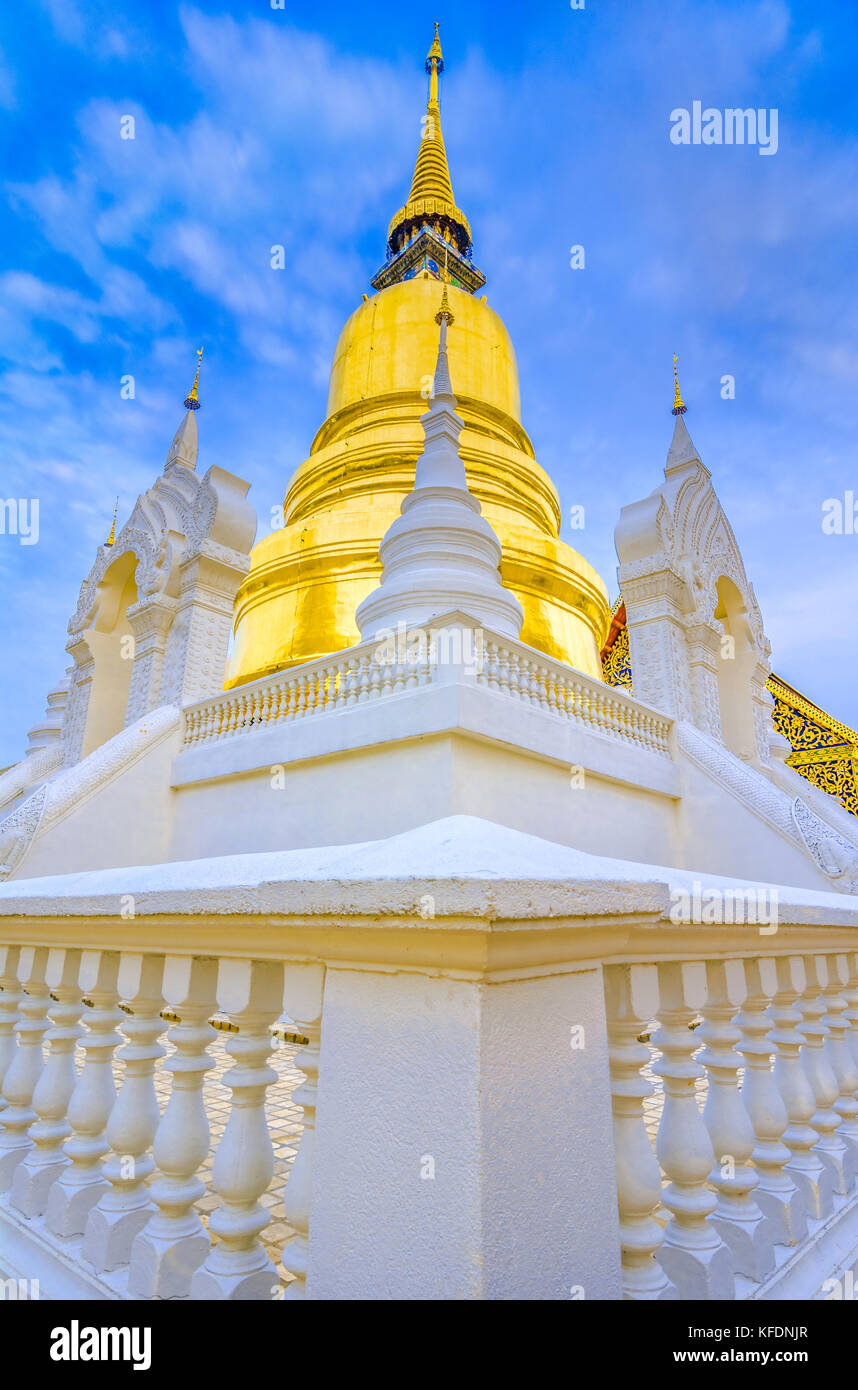 Wat Suan Dok, a Buddhist temple, Wat in Chiang Mai, northern Thailand. It's a Royal Temple of the Third Class. - Stock Image