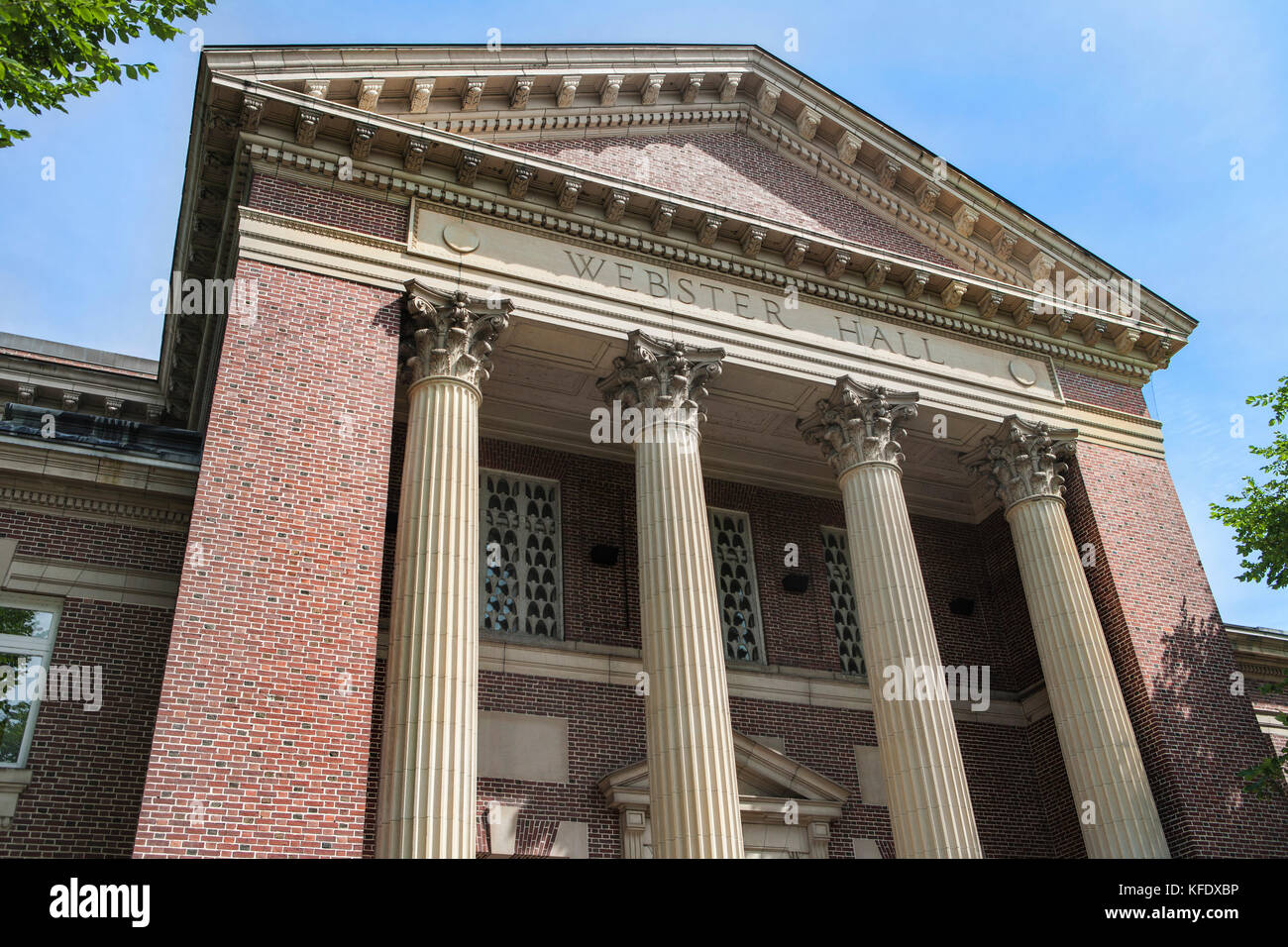Webster Hall Rauner Library, Dartmouth College, Hanover, New Hampshire Stock Photo