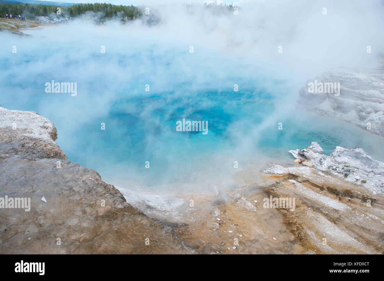 Caldara Hot Spring Pool in Yellowstone National Park, Wyoming, USA - Stock Image