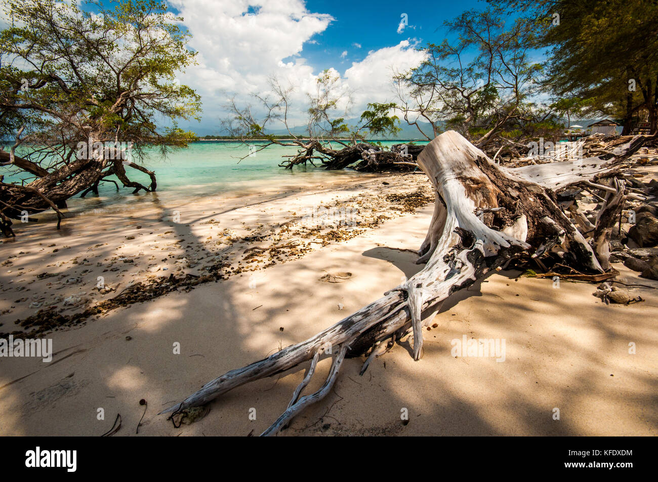 Gili Meno beach, Lombok, Indonesia - Stock Image